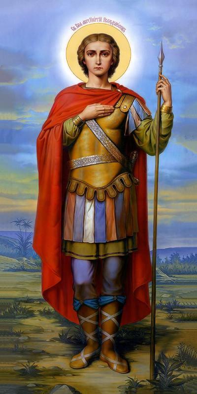 Современная икона святого Георгия