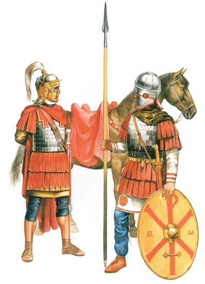 Офицер и всадник римской регулярной кавалерии