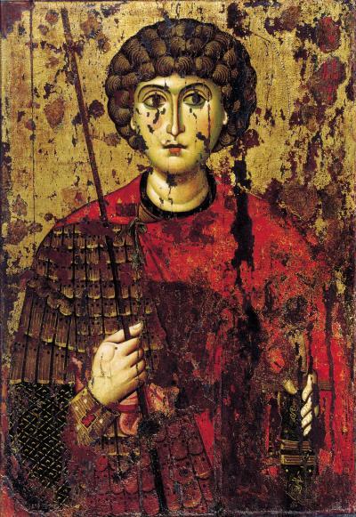 Византийско-русский образ святого Георгия