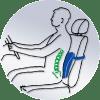 Подушка ортопедическая Sissel Back под спину Арт. 003711