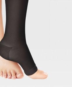 Гольфы с открытым носком с простой резинкой на силиконовой основе ID-230