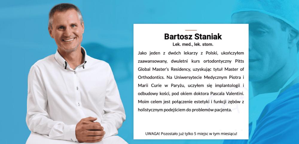 Doktor Staniak certyfikowany lekarz Invisalign