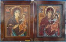 Icoana maicii Domnului - Nicula - dupai si nainte dse restaurarea din 1992