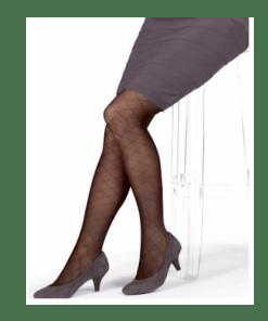 Meia Calça Listrada Preta Jobst - Ortopedia Online SP
