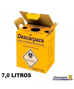 Caixa Coletora 7l Perfurocortante Agulha Descarpack - Ortopedia Online SP