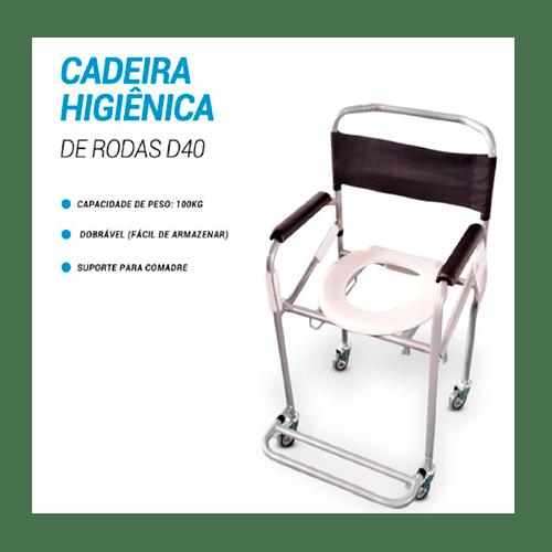 Cadeira de Banho Dobrável 100kg Dellamed D40 - Ortopedia Online SP