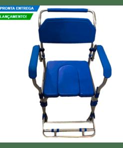 Cadeira de Banho em alumínio com coletor até 150Kg - D60 Dellamed - Ortopedia Online SP