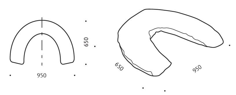 wymiary Poduszka ortopedyczna rogal dla matek karmiących Valde B80
