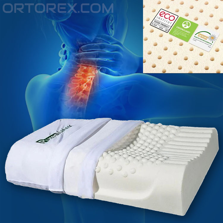 100 natural latex orthopedic pillow for neck pain