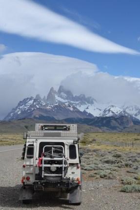 Cerro Fitz Roy in den Wolken