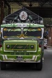 Bus an der kolumbianischen Grenze