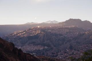 Sonnenuntergang über La Paz