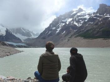 Frizzi und Christoph an der Laguna Torre