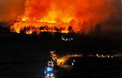 Großbrand im Gildehauser Venn