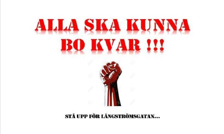 De boende på Långströmsgatan i Biskopsgården kallar till demonstration mot hyresvärden Balder som vill lyxrenovera i området.