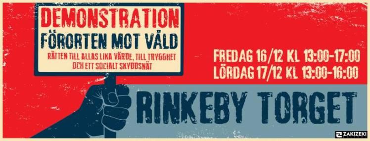 Förorten mot våld håller demonstrationer på Rinkebytorg