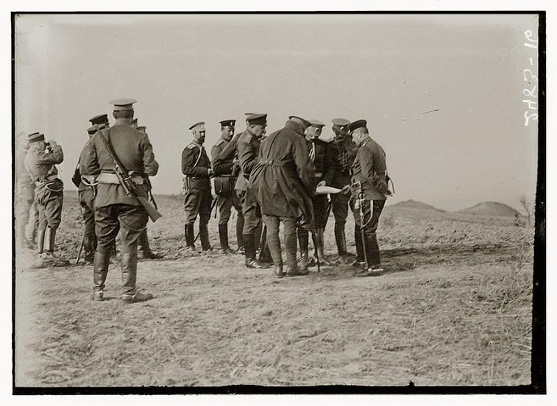 Komanda opsade Jedrena na osmatračkom položaju
