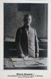 Načelnik obaveštajne službe nemačkog Generalštaba, pukovnik Fridrih Rihard Henč