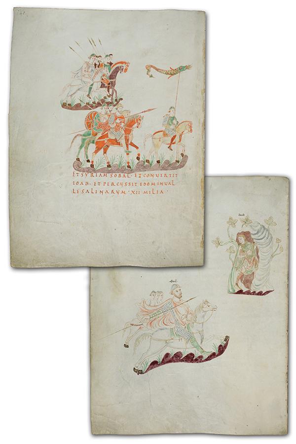 Vojnici naoruzani franackim tipom koplja - Zlatni psaltir IX vek