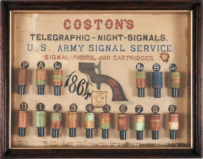 Reklama za signalne pištolje Kaston iz 1864. godine