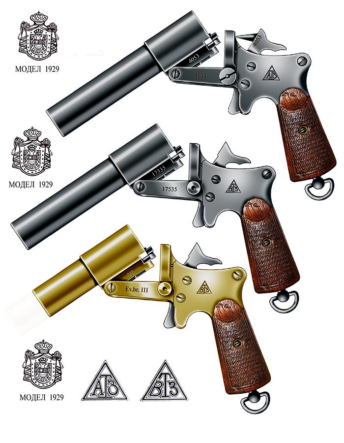 Jugoslovenski signalni pištolji (kopnena vojska i mornarica) 26mm M1929, proizvodnja VTZ, Kragujevac