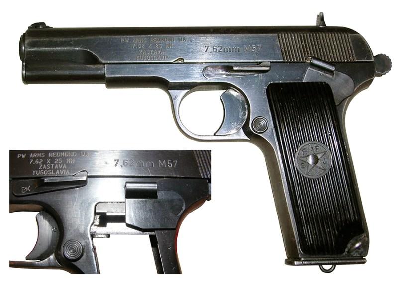 Pištolj 7,62 mm PW Arms M-57 Zastava