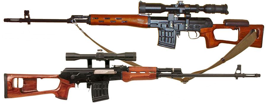 Poredjenje - M91 (gore) i sovjetski SVD (dole)