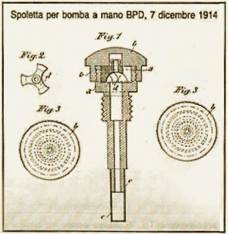 BPD spoletta per bomba 1914