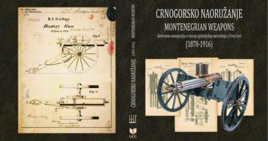 Objavljena monografija Crnogorsko naoružanje (1870-1916)