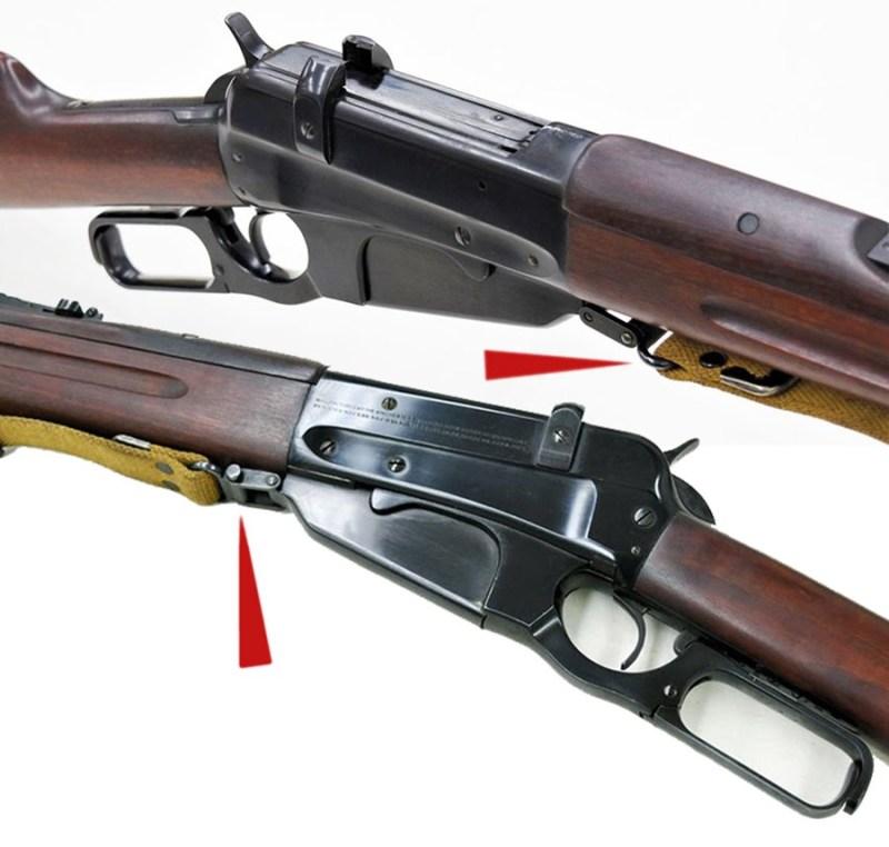 Identičan tip pređice na musketi Winchester M1895.