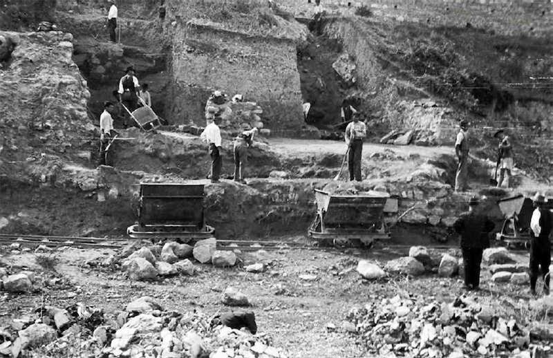 Arheološka iskopavanja na Kalemegdanu 1942. Arhiv Narodnog muzeja