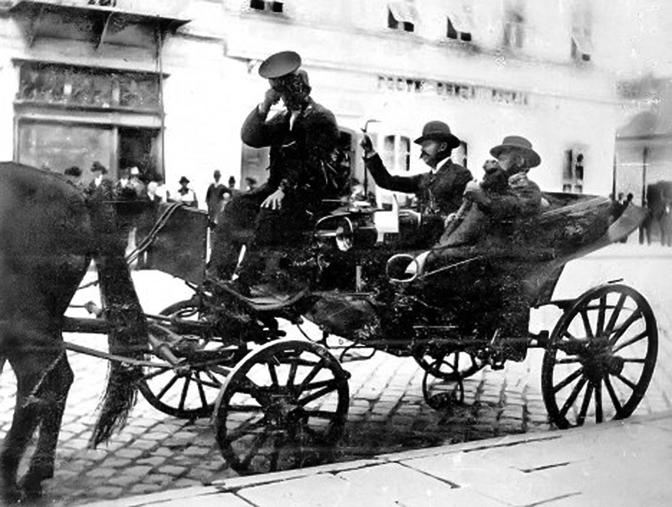 Austrougarsko poslanstvo, Studenička br. 20, snimak iz 1914. (Foto Privatna arhiva B. Bogdanovića)