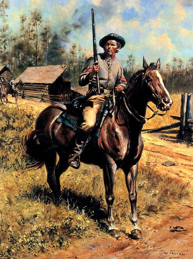 Pripadnik 8. rendžerskog konjičkog puka, Građanski rat