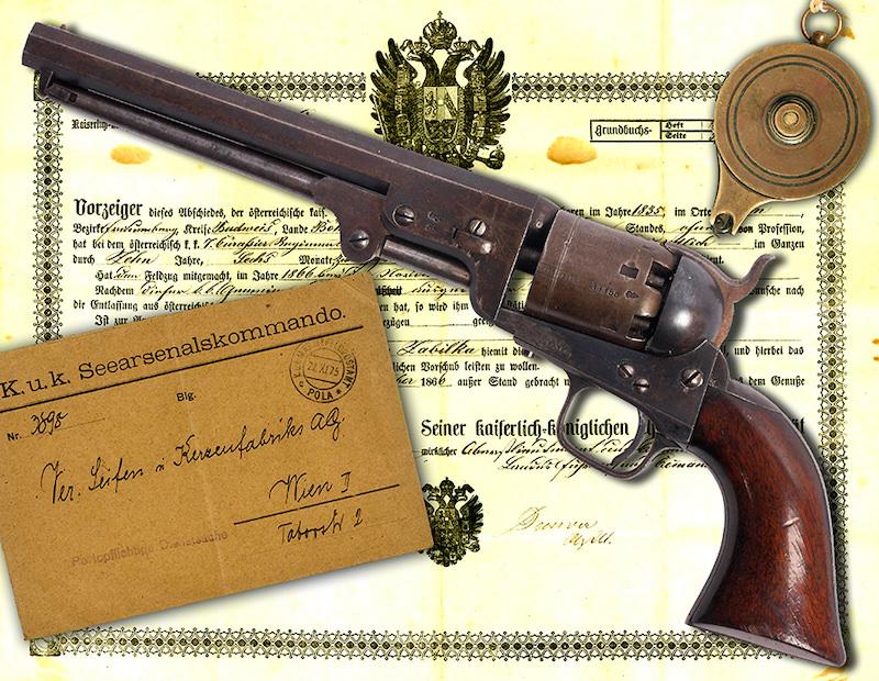 Austrijski Colt Navy 1851, proizveden u Londonu