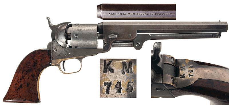 Colt Navy 1851 pruske mornarice broj 31.962 sa žigom KM