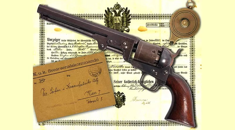 Austrijski mornarički revolver . 36 London Colt Navy 1851