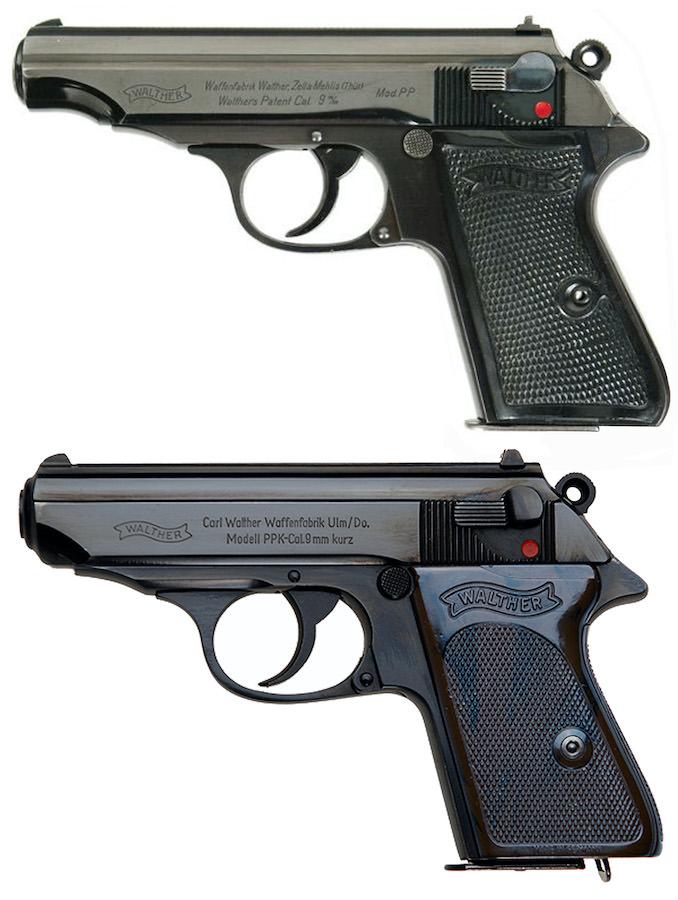 Standarni pištolji 7,65mm Walther PP i PPK (stari tip kočnica 90°)