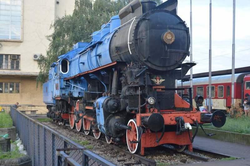 Lokomotiva MAV 11-022 izlozena na bivsoj Glavnoj zeleznickoj stanici Beograd