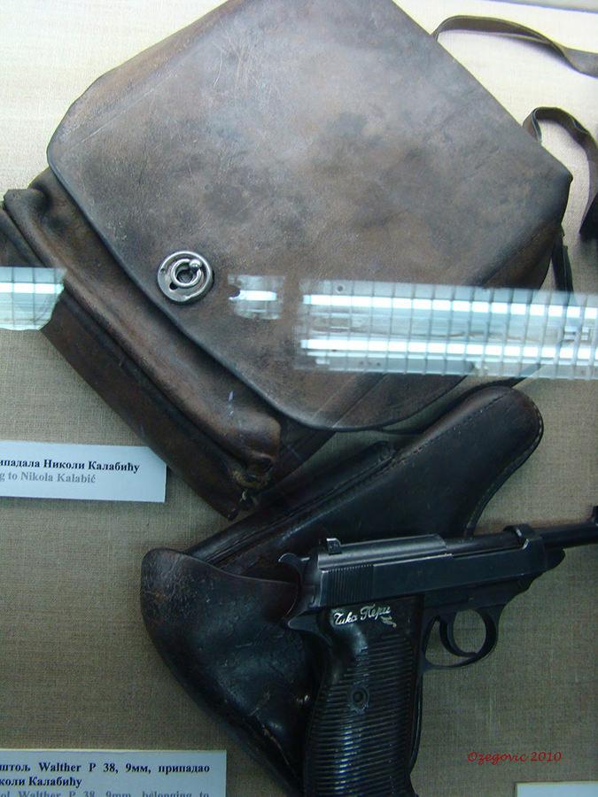 Pištolj 9 mm Walther P-38 Nikole Kalabića iz fundusa BIA