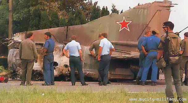 MiG 23 na granici Belgije i Francuske