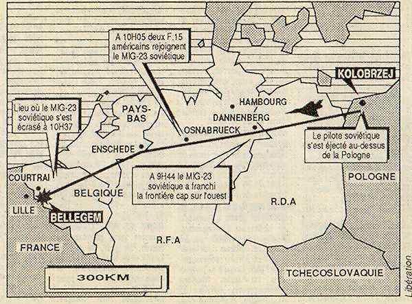 Let MiG 23 preko Evrope