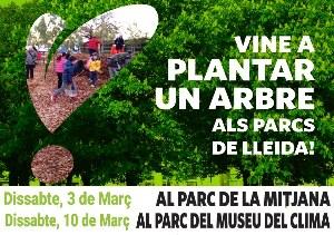 Vine a planta un arbre als parc de Lleida