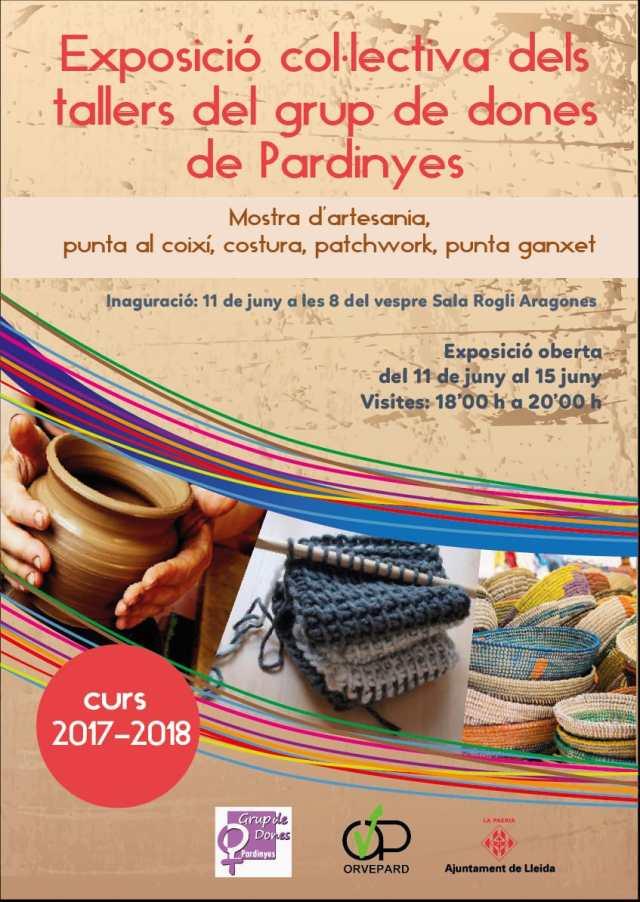 Exposició col·lectiva dels tallers del grup de dones de Pardinyes