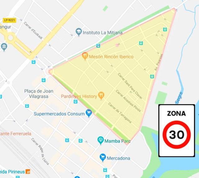 Implantació Zona 30 a Pardinyes