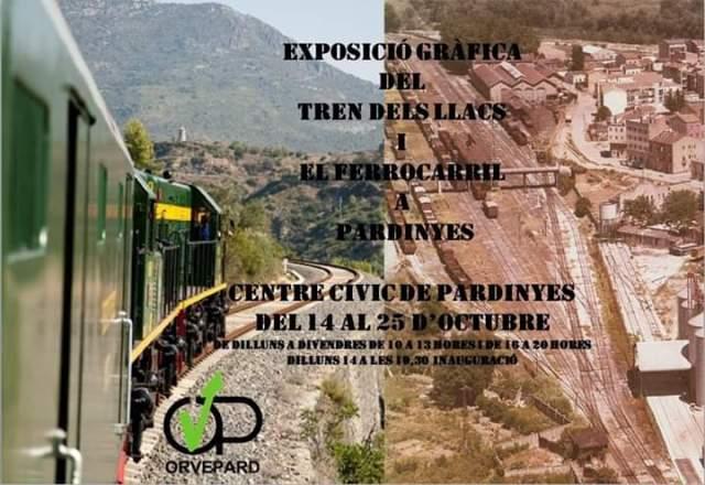 """Exposició Fotogràfica """"TREN DELS LLACS I EL FERROCARRIL A PARDINYES"""" <span class=""""dashicons dashicons-calendar"""" data-recalc-dims=""""1""""></span>"""