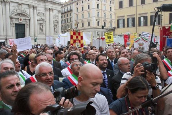 Orvietani in marcia su Roma