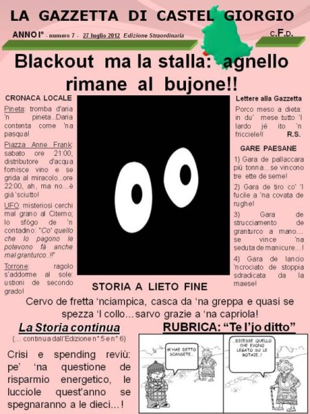 """La """"Gazzetta di Castel Giorgio"""" numero 7"""