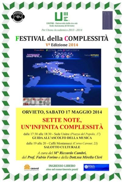 Il Festival delle complessità per la prima volta a Orvieto