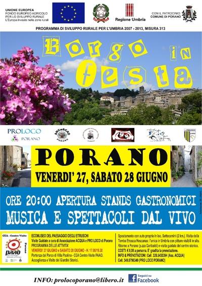 """Ritorna """"Borgo in Festa"""" a Porano"""