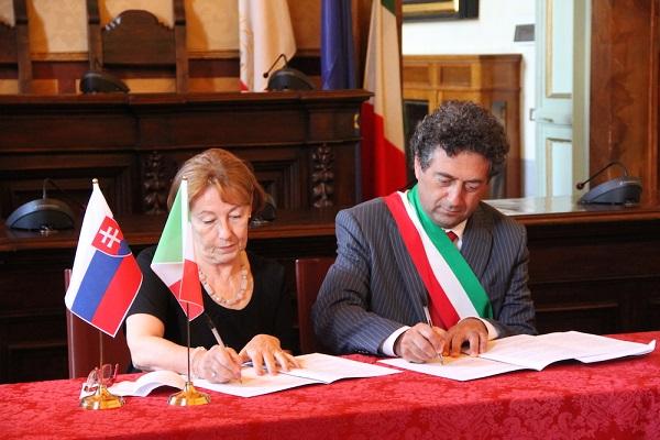 Firmata l'Intesa di amicizia e cooperazione tra Comune di Orvieto e Ambasciata Repubblica Slovacca
